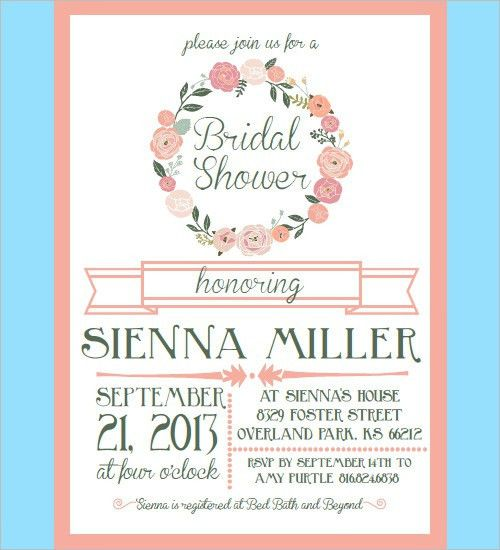 Bridal Shower Invitation Template | christmanista.com