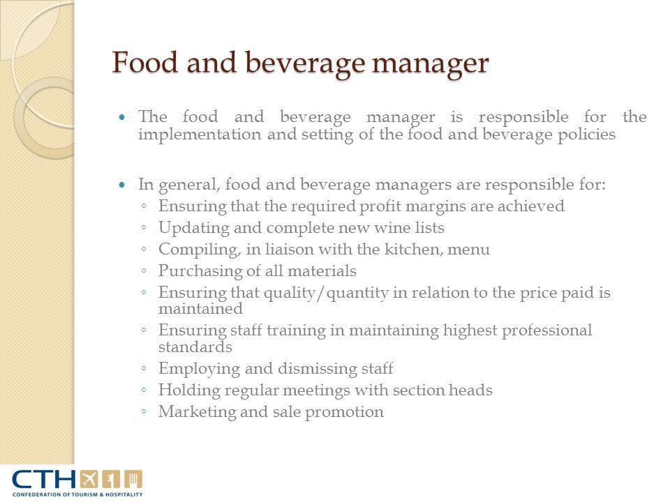 Food and Beverage Operations - ppt video online download
