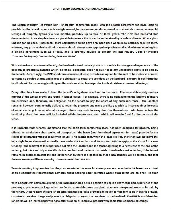 Enterprise Rental Agreement – 8+ Free Word, PDF Documents Download ...