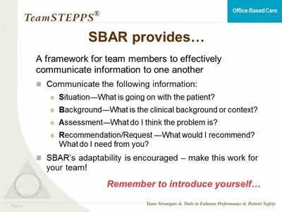 TeamSTEPPS for Office-Based Care: Communication | Agency for ...