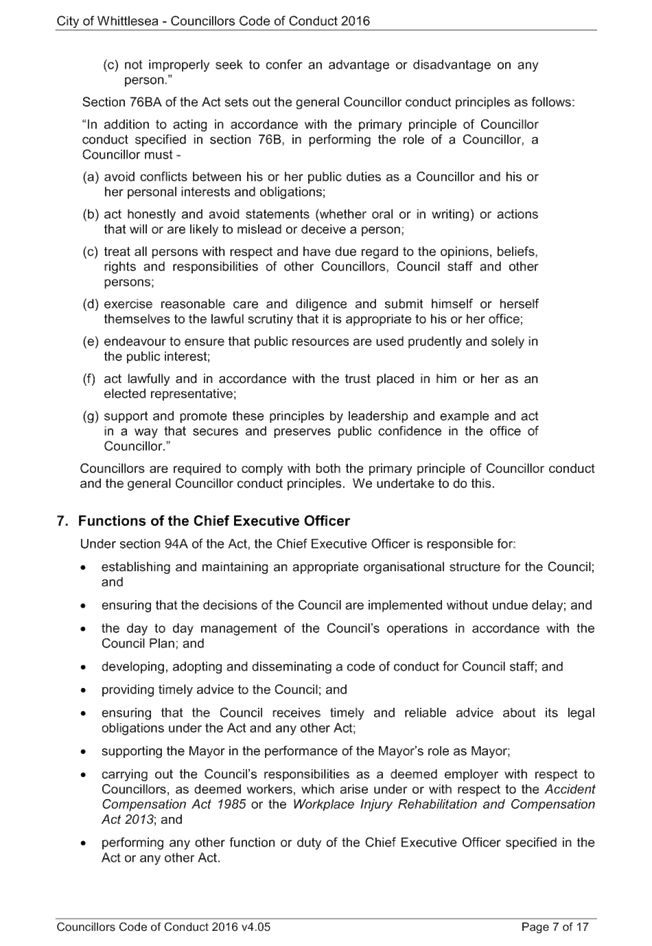 Minutes of Special Council - 14 June 2016