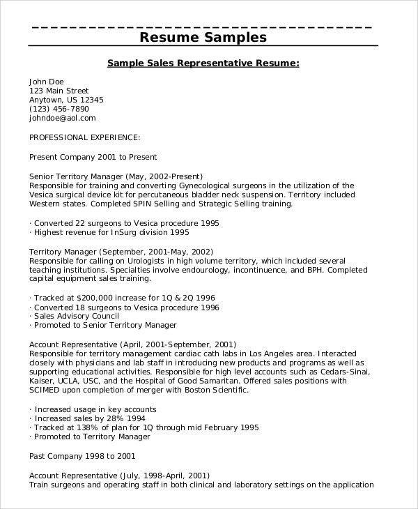 27+ Sales Resume Templates in PDF | Free & Premium Templates