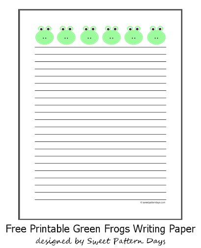 Cute Balloons Lined Writing Paper | Stationery Printables ...