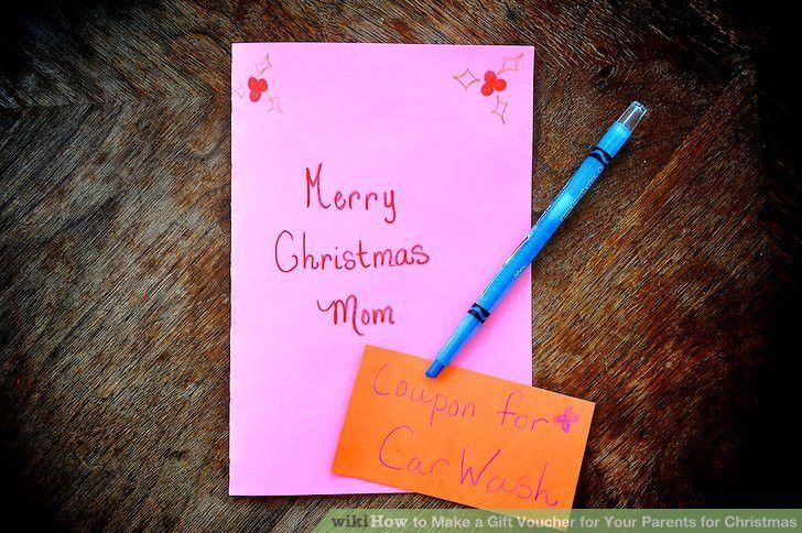 How to Make a Gift Voucher for Your Parents for Christmas: 5 Steps