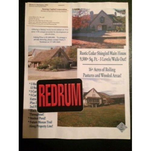 Herbert Baumeister Fox Hollow Farm house sale 8.5 x 11 flyer ...