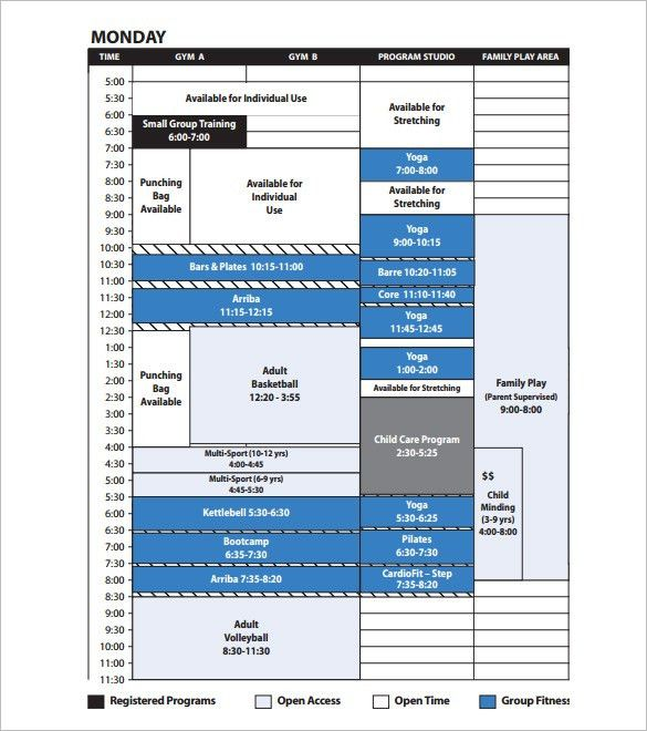 Program Schedule Template – 8+ Free Word, Excel, PDF, Format ...