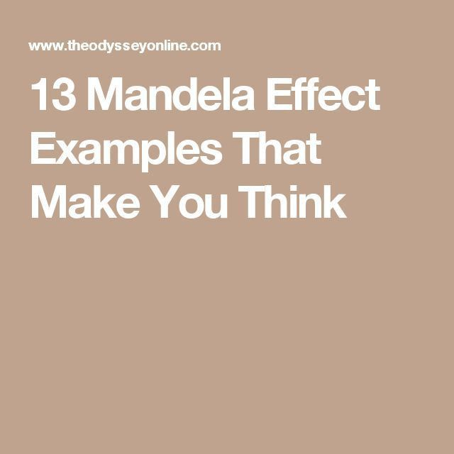 31 best Mandela Effect images on Pinterest | Conspiracy theories ...