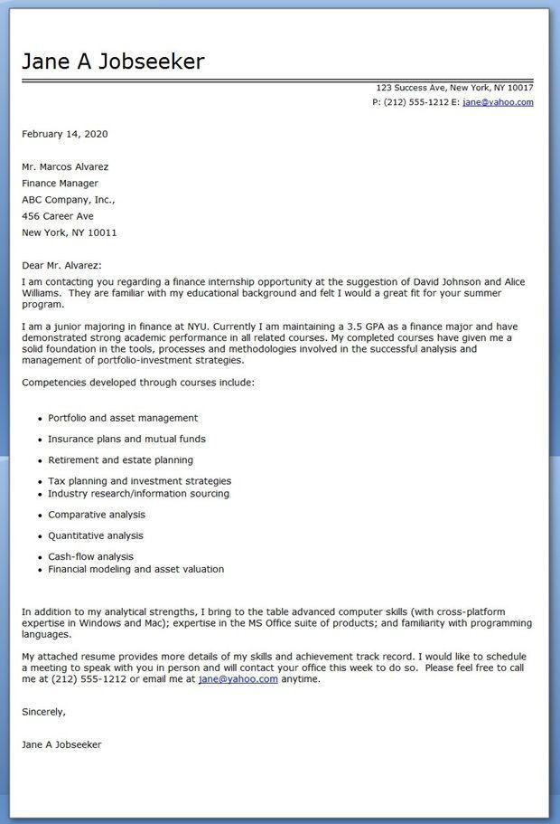 sample cover letter. sample intern resume resume cv cover letter ...
