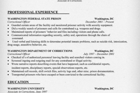 Cover Letter For Correctional Officer Goxur Resume Goes On And On ...