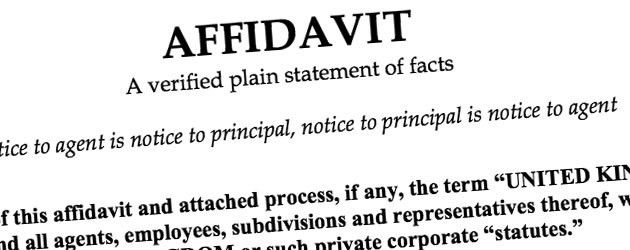 Lawful Rebellion | The Basics and Potential Power of an Affidavit ...