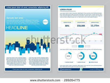 Creative Brochure Template Design Infographic Chart Stock Vector ...