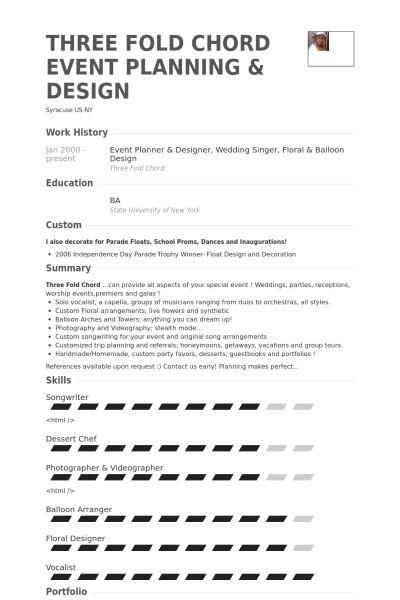 wedding planner resume wedding coordinator resume cuyb event