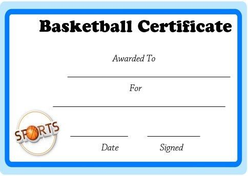 microsoft word basketball certificate template | Basketball ...