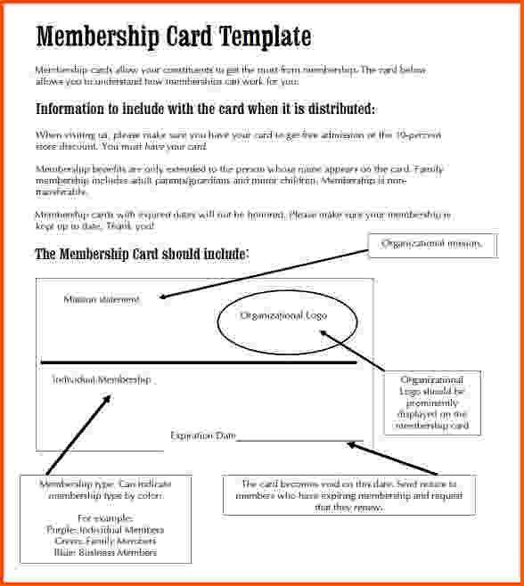 9+ membership card template | Survey Template Words