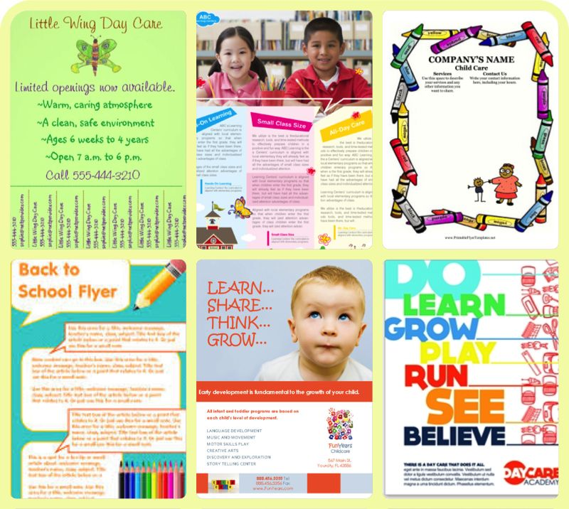 Tips For An Effective Flyer For Your Child Care Business - Pudink ...