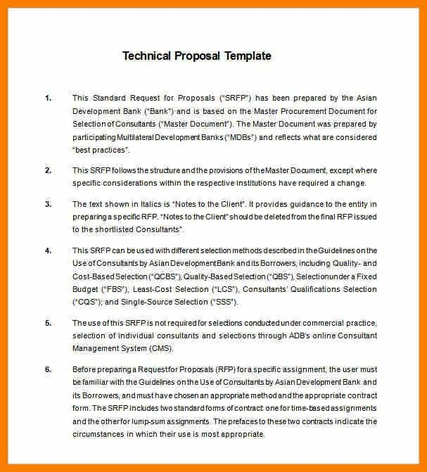 9+ technical proposal example | science-resume