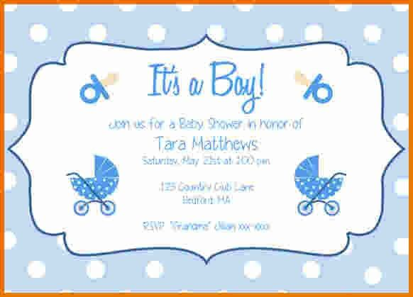 Baby Shower Invitation Templates For Word.make A Baby Shower ...