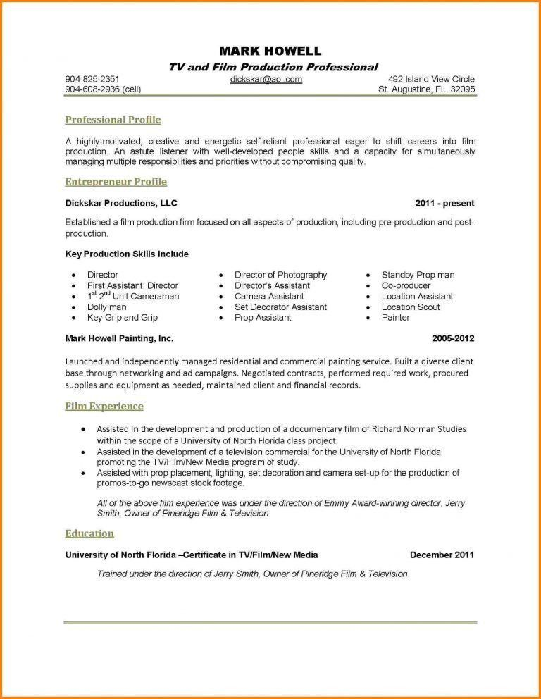 1 Page Resume Template. Sample College Resume Template Microsoft ...