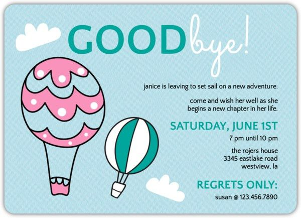 Backyard BBQ Farewell Party Invite | Going Away Party Invitations