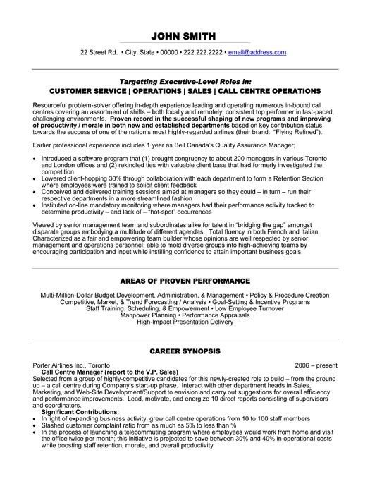 Example Of Objectives In Resume For Call Center Agent - Templates