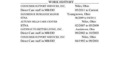 stna resume sample hha resume samples visualcv resume samples