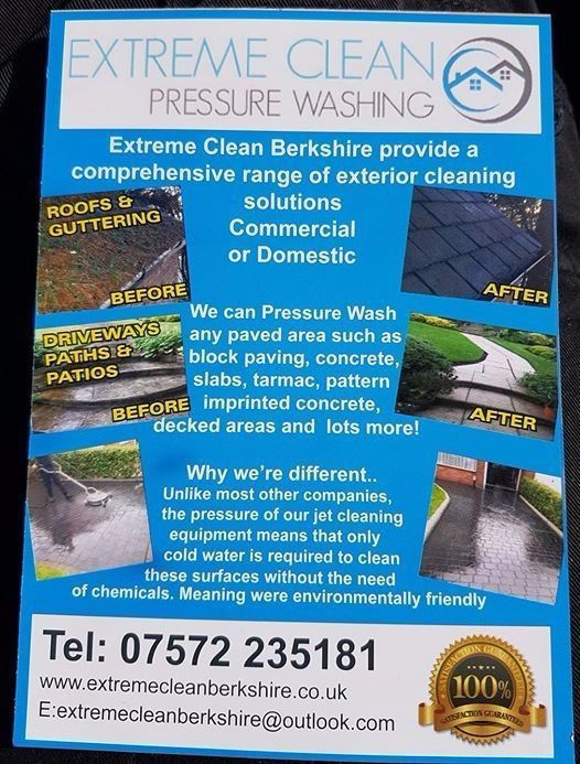 EXTREME CLEAN PRESSURE WASHING DRIVEWAYS PATIOS DECKING ROOFS ...
