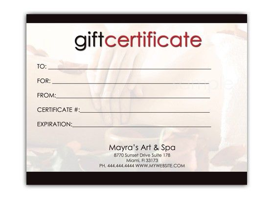 Free Download Editable Gift Certificate Template Sample with ...