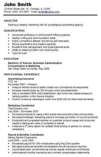 "The chronological <a href=""http://resume.tcdhalls.com/resume ..."