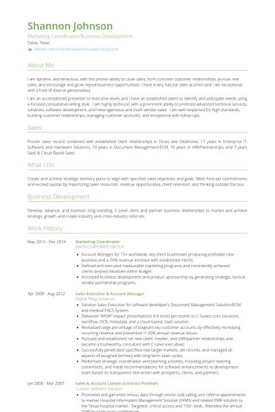 Marketing Coordinator Resume samples - VisualCV resume samples ...