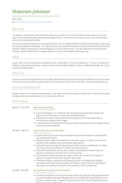 Marketing Coordinator Resume samples - VisualCV resume samples ...