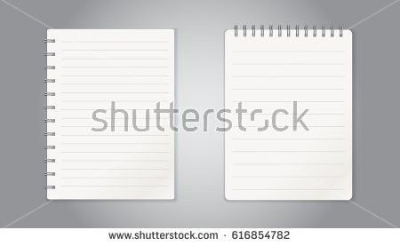 Realistic Template Line Notepad Blank Cover Stock Vector 559625278 ...