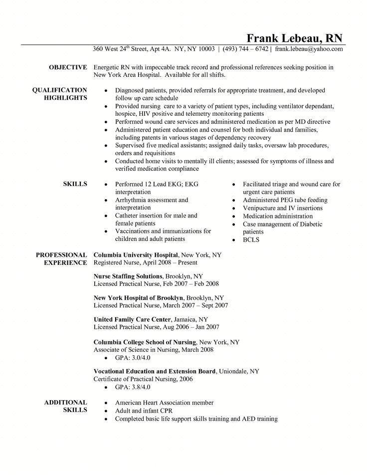 Sample Resume Nursing Graduate School - Templates