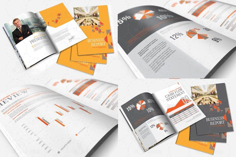 InDesign Annual Report / Brochure Template by templatepickup on ...