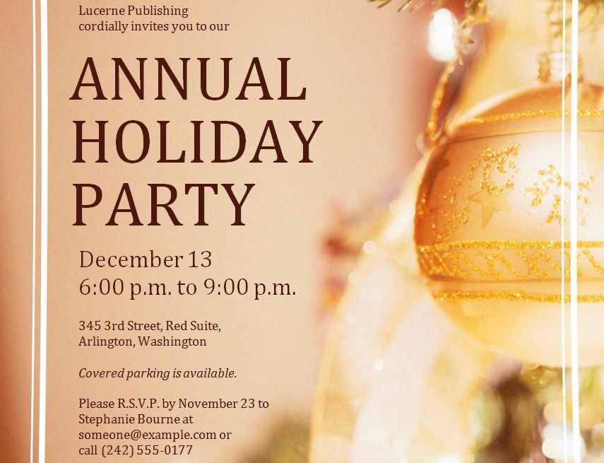 Holiday Party Invitations Templates – gangcraft.net
