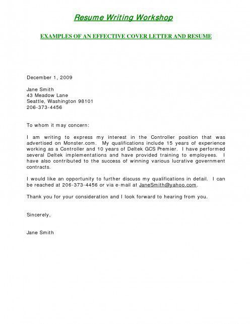 Staggering Short Cover Letter 4 Sample Assembly Technician Cover ...