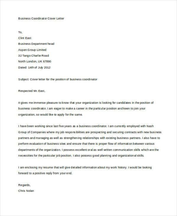 Business Cover Letter -10+ Free Word, PDF Format Download | Free ...