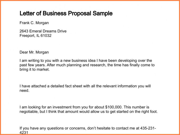 7+ how to write a business proposal letter sample | Project Proposal