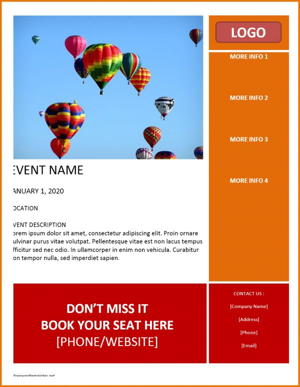 Free Flyer Templates Word.Event Flyer Template.png   Scope Of Work ...