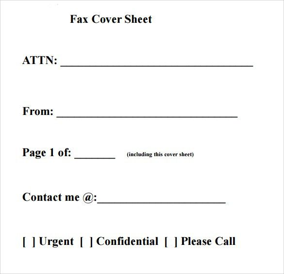 Fax Cover Letter Pdf - My Document Blog