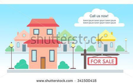 Vector Template Advertisement About House Sale Stock Vector ...