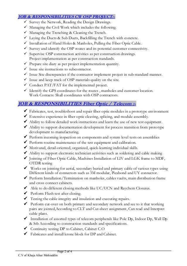 Afsar_CW FTTH & OSP Senior Engineer-Resume