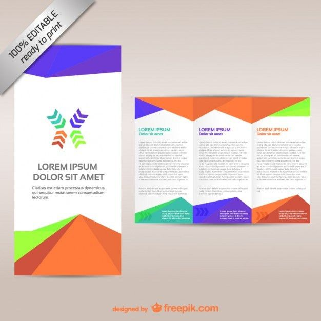 Colorful tri-fold brochure template Vector | Free Download