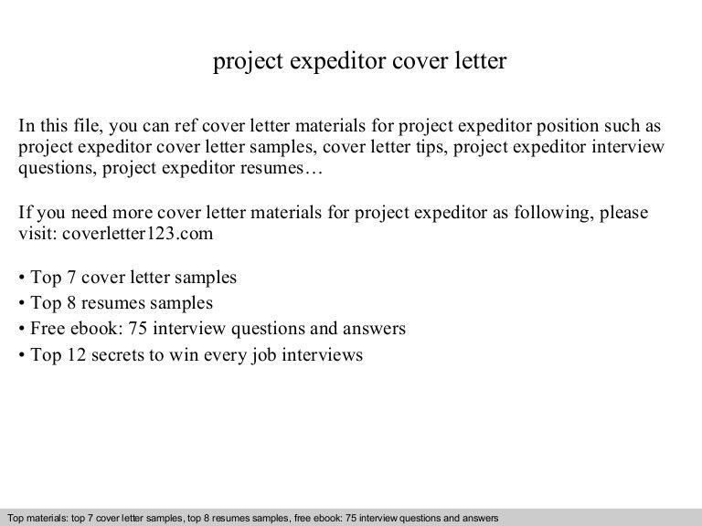 Project expeditor cover letter