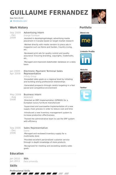 Advertising Intern Resume samples - VisualCV resume samples database