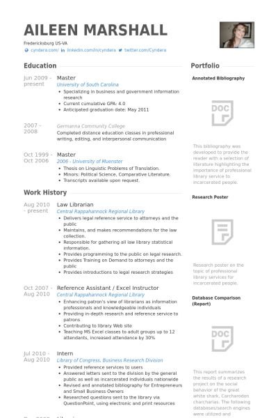 Law Resume samples - VisualCV resume samples database