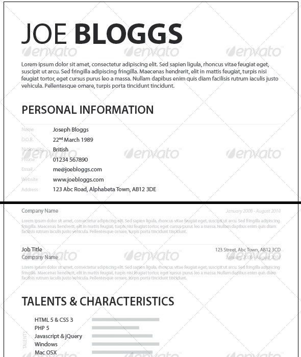Monochromatic Simple Clean Elegant Resume / CV   Resume cv, Font ...