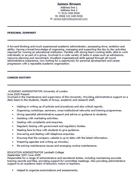 16 Free Sample School Administrator Resumes – Sample Resumes 2016
