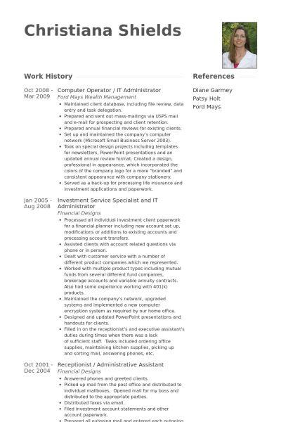 It Administrator Resume samples - VisualCV resume samples database