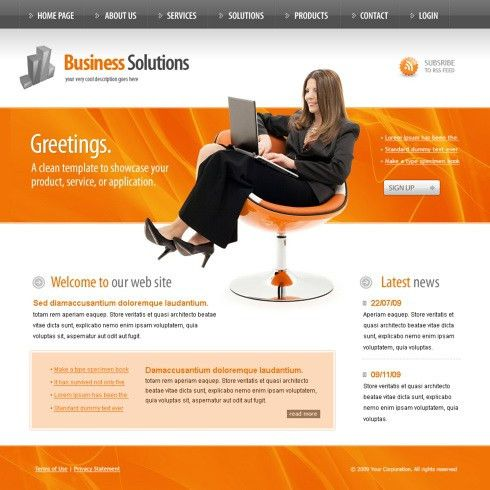 Information Technology Website Template - 5985 - Computers ...