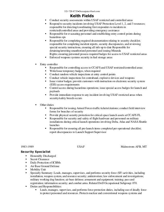 download security forces resume haadyaooverbayresortcom. Resume Example. Resume CV Cover Letter